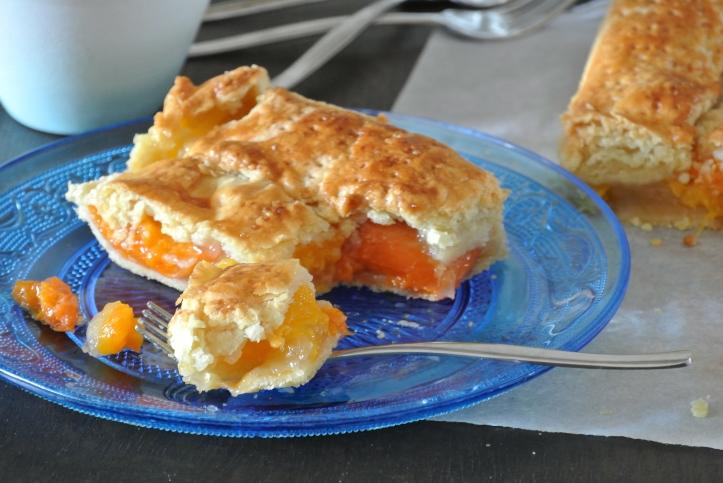 Apricot Slab Pie