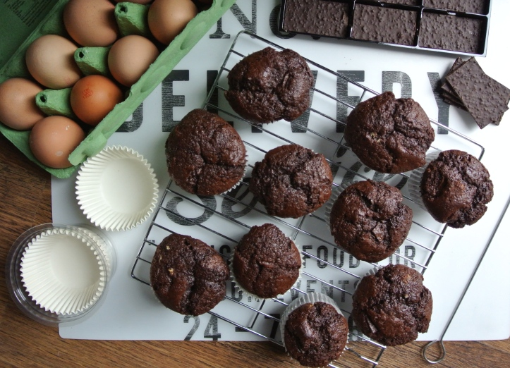chocolate mint muffins