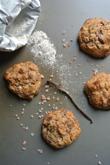 rye chocolate sea salt cookies