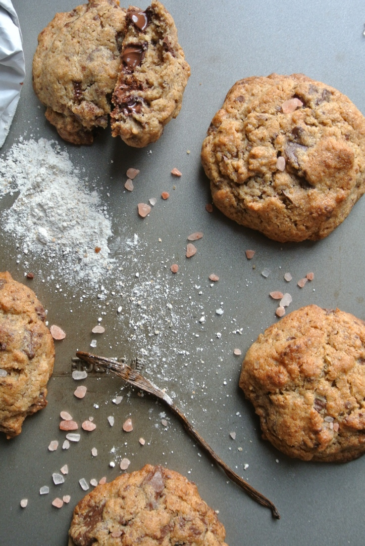 rye chocolate sea salt cookies